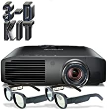 Panasonic PT-AE8000U Full HD 3D Home Theater Projector  2 Pairs of Xpand 3D Glasses