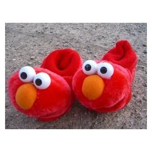 Sesame Street Elmo Soft Warm Shoes/slippers, , Kid Toddler Shoe Size 3/4 Great for Halloween Costume (B006HBATUW)