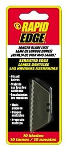 Rapid Tools RT00004 Serrated Utility Knife Blades, 10-Pack