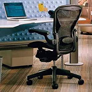 Aeron Chair by Herman Miller - Highly Adjustable - Graphite Frame - Lumbar Pad - Carbon Classic (Medium)