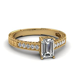 1.25 Ct Emerald Cut FLAWLESS Diamond Halo Pave Set Engagement Ring H-Color 14K GIA