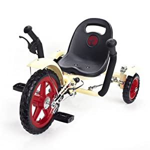 Mobo Tot Ergonomic Toddler's Three Wheeled Cruiser, Ivory, 12-Inch
