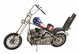 American Motorcycle Tin Classic Antique Finish New Red White Blue