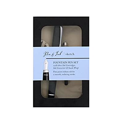 Art Alternatives Pen & Ink Sketch Fountain Pen & Ink Gift Set with Rhodia Notepad