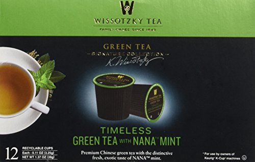 Wissotzky Tea Green Tea with Nana Mint Herbal Single Serve Cups for Keurig K Cup Brewer, 24 Count (Single Serve Green Tea compare prices)
