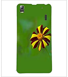 PrintDhaba Flower D-1962 Back Case Cover for LENOVO A7000 TURBO (Multi-Coloured)