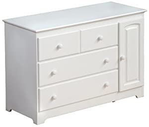Atlantic Furniture Windsor 3 Drawer Changing Table, White