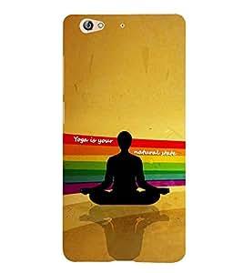 Fuson Premium Yoga Printed Hard Plastic Back Case Cover for Gionee S6
