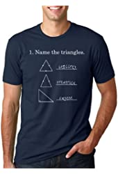 Name the Triangles T Shirt Funny Math Triangle Tee