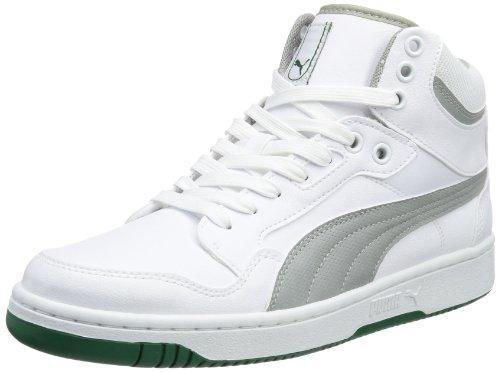 Puma Rebound Mid FS 4 354909, Sneaker uomo, Bianco (Weiß (white-limestone gray 06)), 41
