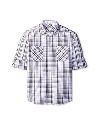 James Campbell Men's Trend Plaid Long Sleeve Sportshirt