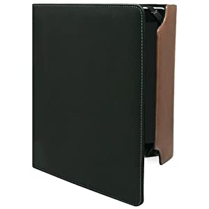 BoxWave Journeyer iPad Portfolio Case - Professionally Styled Brown and Black Synthetic Leather Folio Case with Interior Pockets and Pen/Stylus Holder to Store Your Business Essentials - iPad Cases and Covers
