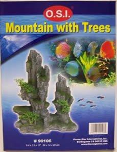 OSI Marine Lab Mountain with Trees Medium Aquarium Ornament