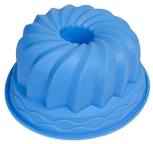 Le Juvo Bundt Cake Silicone Mold - Round 9.5X4 Inch Pan - Blue
