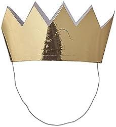 Mini Crowns 6/Pkg-Gold