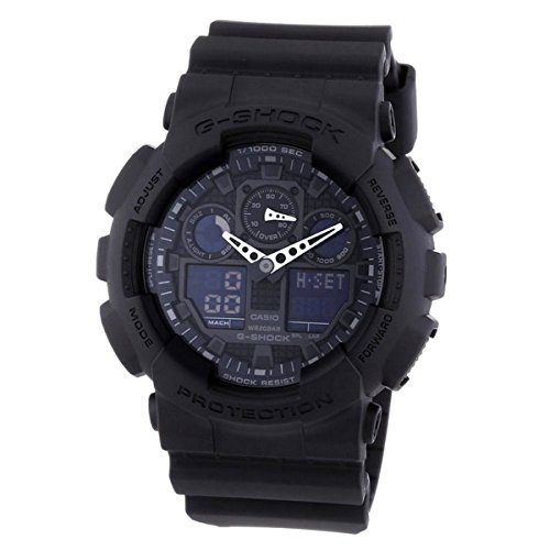 Casio Men's GA100-1A1 Black Resin Quartz Watch with Black Di