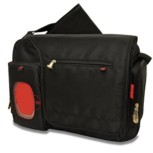 Fisher-Price Fastfinder Deluxe Messenger Diaper Bag, Black from Fisher-Price