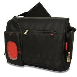 Fisher-Price Fastfinder Deluxe Messenger Diaper Bag, Black