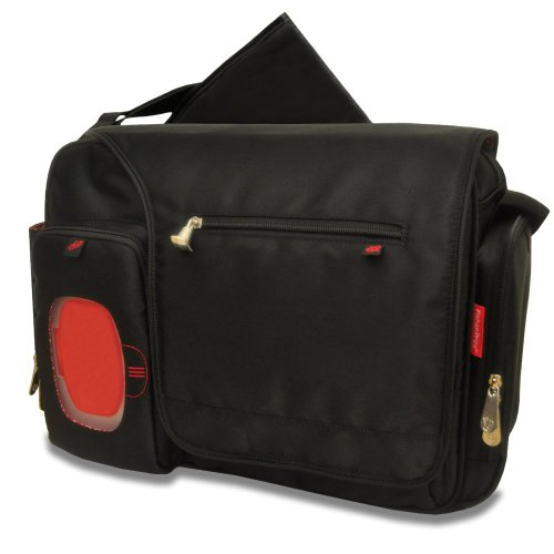 fisher price fastfinder deluxe messenger diaper bag black nappy bag nappy bags designer. Black Bedroom Furniture Sets. Home Design Ideas
