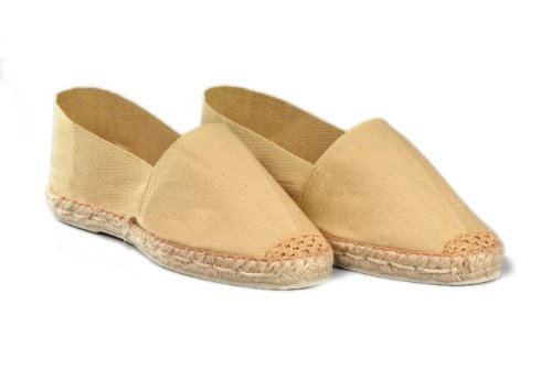 Espadrille-homme-beige-fabrication-artisanale-made-in-pays-basque-france