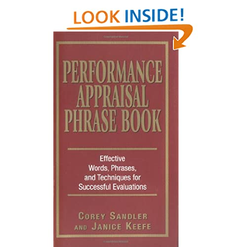 Performance appraisal useful phrases employee evaluations