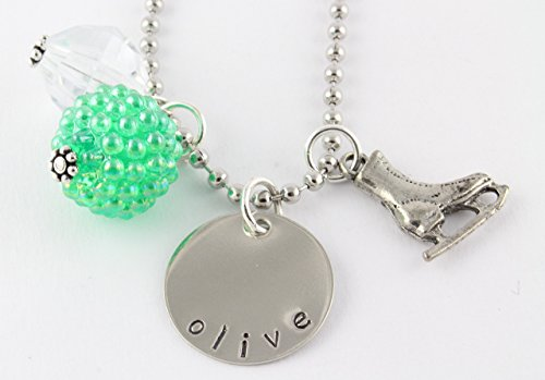 Ice Skating Personalized Charm Necklace - Skater Gift - Stocking Stuffer (Ice Skating Gifts For Girls compare prices)
