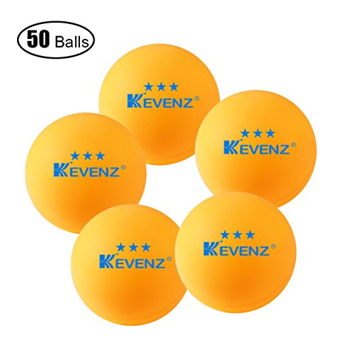 Best Price KEVENZ 3-Star 40mm Table Tennis Balls, (50-Pack,Orang,Practice ping-pong,K1) (50 Counts_O...