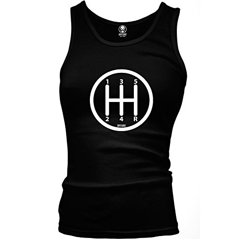 Gear Shift Knob Manual Transmission Driver Ladies Beater Tank Top (Large Black) (Shift Knob Woman compare prices)