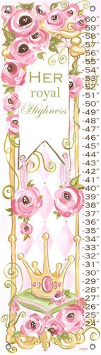 Oopsy daisy Her Royal Highness Growth Chart by Shelly Kennedy, 12 by 42 Inches