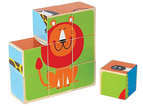 Hape E0421 Happy Puzzle - Zoo Animals Block Puzzle Toy
