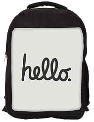 Snoogg Had Me At Hello Backpack Rucksack School Travel Unisex Casual Canvas Bag Bookbag Satchel