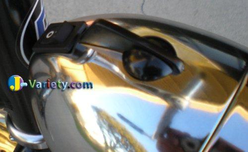 JBikes Dynamo Classic Retro Chrome Bicycle Headlight with Visor for Lowrider Beach Cruiser Comfort BMX Hybrid Bike 4