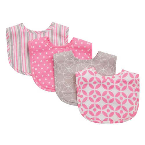 Trend Lab Bib Set, Pink, Lily, 4 Count