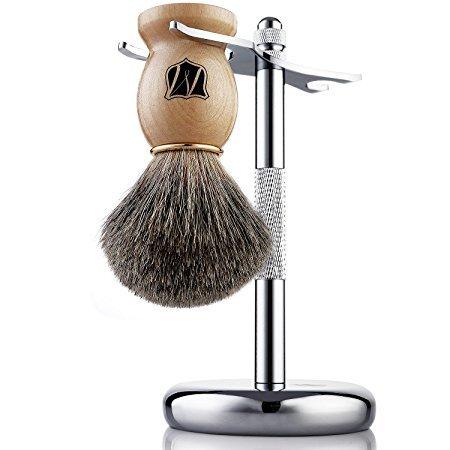 miusco-premium-100-reines-dachshaar-rasierpinsel-und-luxus-stander-rasierset-chrom-rasierpinselhalte
