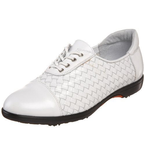 Sesto Meucci Women's Glary Golf Shoe,White,9.5 C US