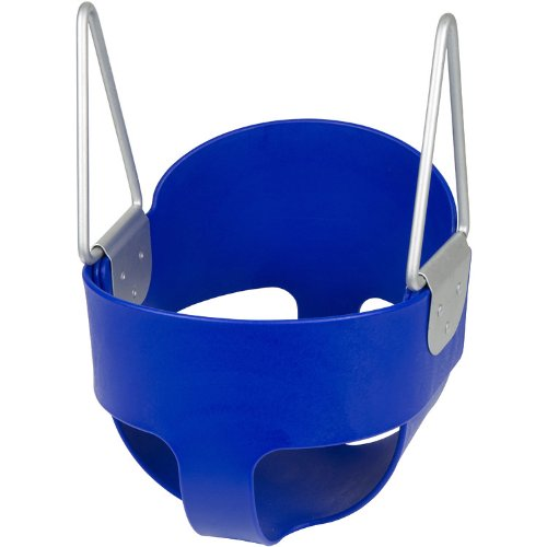 Swing Set Stuff Highback Full Bucket Swing Seat with Chains and Hooks (Blue) (Outdoor Commercial Baby Swing compare prices)