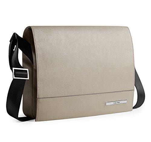 Calvin Klein Mens Riley City Messenger Bag Pebble