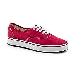 Keuka SureGrip Unisex - Adult Shock Red Athletic Slip Resistant Work Shoes 5M