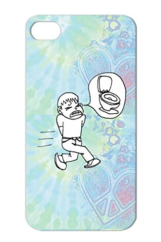 White Miscellaneous Fart Toilet Shart Potty Gotta Go Poop Funny Bathroom For Iphone 4 Gotta Go Potty Protective Hard Case front-472364