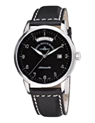 Zeno Men's 6069DD-C1 Magellano Black Day Date Dial Watch