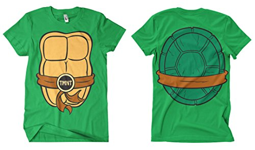 Officially Licensed Merchandise TMNT Costume T-Shirt (Green), Large