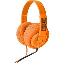 iDance SDJ 850 Over-Ear Headphone with Mic (Orange)