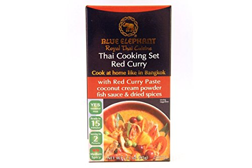Blue Elephant Royal Thai Cooking Set Curry, 3.8 Ounce 110G (Red Curry, 3.8 Ounce)