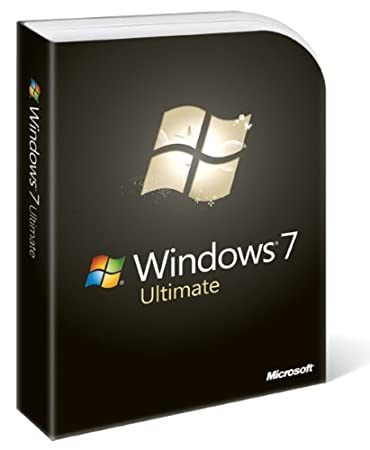 Microsoft Windows 7 Ultimate, Full Version  (PC DVD), 1 User
