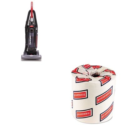 Kitbwk6180Euksc5845B - Value Kit - Sanitaire Bagless/Cyclonic Commercial Upright Vacuum (Euksc5845B) And White 2-Ply Toilet Tissue, 4.5Quot; X 3Quot; Sheet Size (Bwk6180) front-103591