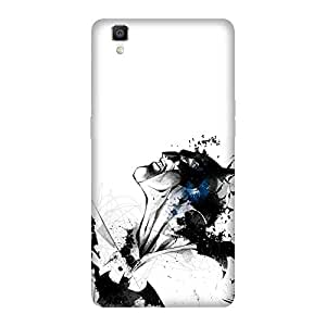 Abhivyakti Comic Superhero White Batman Hard Back Case Cover For Oppo