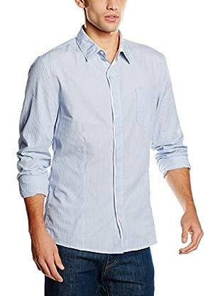 Diesel Camisa Hombre Pinstripe (Azul Celeste)
