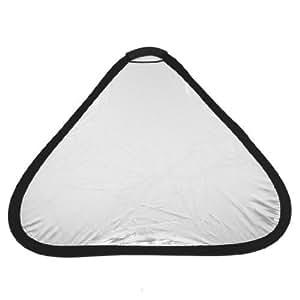 60cm Photo Studio Collapsible Triangular White Silver Tone Reflector