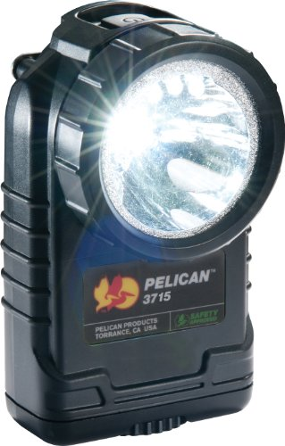 Pelican Right Angle 3715 Led Flashlight With Downcast, Black