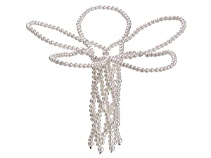 Elegant Pearl Covered Wire Decorative Wedding Bouquet Holder